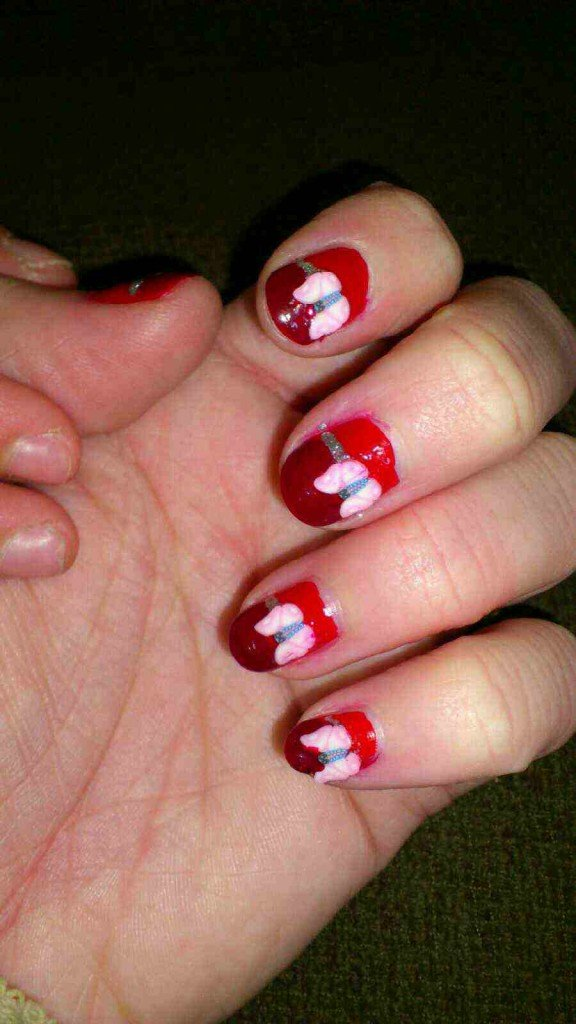 Nail art vernis + fimo dans Mes Nail Art