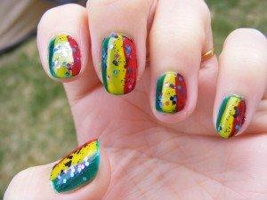 Nail art Reggae Fun dans Mes Nail Art dscf84621-300x225
