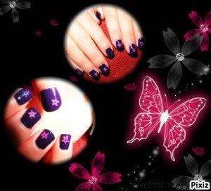 Nail Art étoilée dans Mes Nail Art 002-300x272