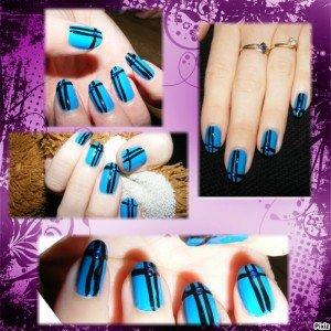 Nail art bleu dans Mes Nail Art 003-300x300